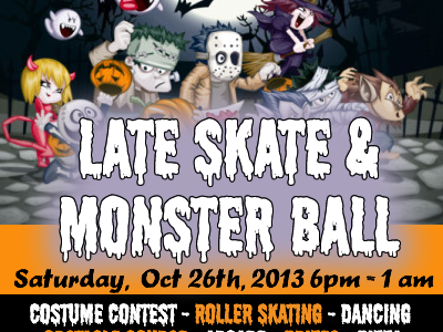 Halloween Late Skate and Monster Ball